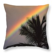 Top Of A Palm Tree Throw Pillow