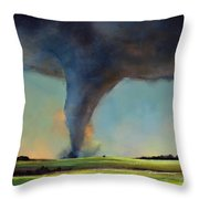 Tornado On The Move Throw Pillow