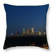 Toronto At Night Throw Pillow