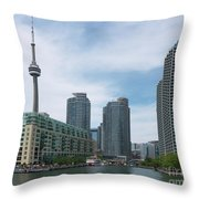 Toronto Harbourfront Throw Pillow