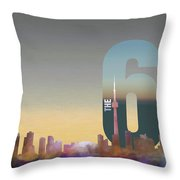 Toronto Skyline - The Six Throw Pillow