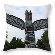 Totem Pole Throw Pillow