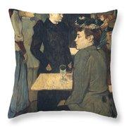 Toulouse-lautrec, 1892 Throw Pillow