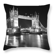 Tower Bridge On The Thames London Throw Pillow