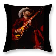 Toy Caldwell Of Themarshall Tucker Band At The Cow Palace Throw Pillow
