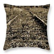 Tracks  To Where Throw Pillow