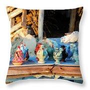traditional tunis ceramics, Djerba, 07 Nov 2014 Throw Pillow