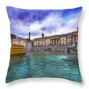 Trafalgar Square Fountain London 5 Art B Throw Pillow