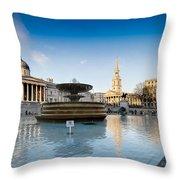 Trafalgar Square National Gallery Throw Pillow