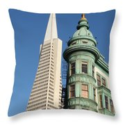 Transamerica Pyramid Building Throw Pillow