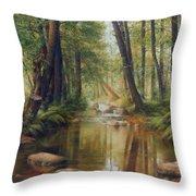 Transcarpatien Landscape Throw Pillow