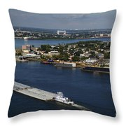 Transportation - Shipping On The Mississippi River Throw Pillow