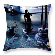 Treasure Island Throw Pillow