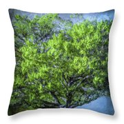Tree On The Bank Throw Pillow