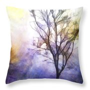 Tree On Vine Throw Pillow