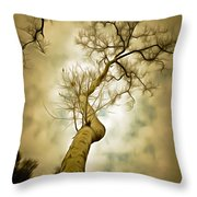 Tree Top In The Clouds Throw Pillow