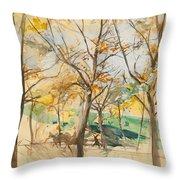 Trees In The Bois De Boulogne Throw Pillow
