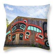 Tribal Totem Pole In Ketchikan Alaska Throw Pillow