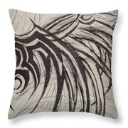 Tribal Wing Sketch Throw Pillow