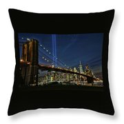 Tribute In Light # 1 Throw Pillow