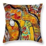 Trick My Canvas Throw Pillow