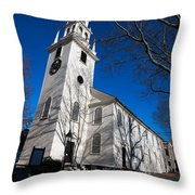 Trinity Church Newport Rhode Island Throw Pillow