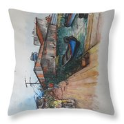 Trip To Chew's Bridge Throw Pillow