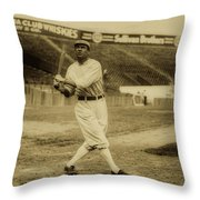 Tris Speaker With Boston Red Sox 1912 Throw Pillow