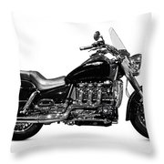 Triumph Rocket IIi Motorcycle Throw Pillow