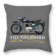 Triumph Thunderbird 1955 Throw Pillow