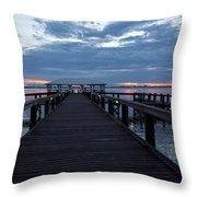 Tropic Twilight On The Indian River Throw Pillow