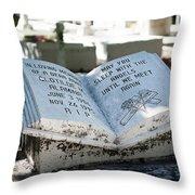 Tropical Cemetery Throw Pillow
