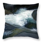 Tropical Flowing Waters Josephine Falls  Throw Pillow