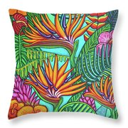 Tropical Gems Throw Pillow