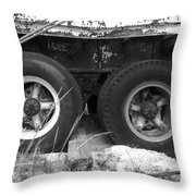 Truck Tires Throw Pillow