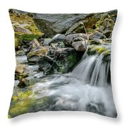 Tryfan In The Ogwen Valley Throw Pillow