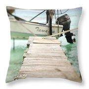 Tuamotu Isles Throw Pillow