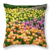 Tulips Galore  Throw Pillow