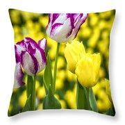 Tulips Garden Throw Pillow
