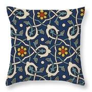 Turkish Textile Pattern Throw Pillow