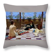 Turkish Women Throw Pillow