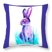 Turquoise And The Hare  Throw Pillow
