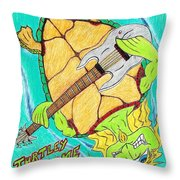Turtley Awesome Throw Pillow