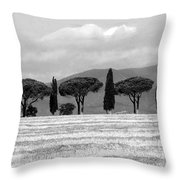 Tuscany Trees Throw Pillow by Julian Perry