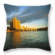 Twilight Waikiki Throw Pillow