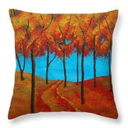 Twilight Woods Throw Pillow