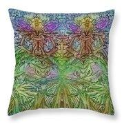 Twin Fairies Throw Pillow