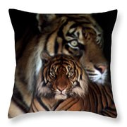Twin Souls Throw Pillow
