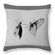 Two Butterfly Throw Pillow