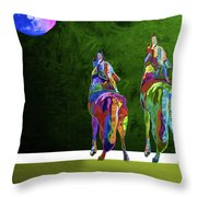 Two Coyote By Nixo Throw Pillow